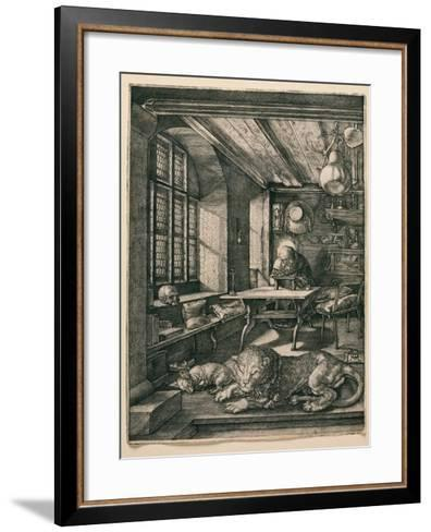Saint Jerome in His Cell-Albrecht D?rer-Framed Art Print