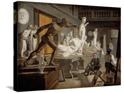Scene from the Academy in Copenhagen-Knud Baade-Stretched Canvas Print