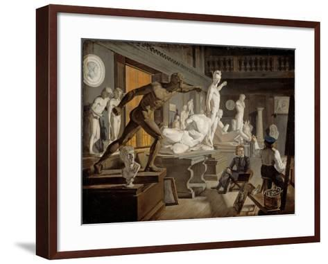 Scene from the Academy in Copenhagen-Knud Baade-Framed Art Print