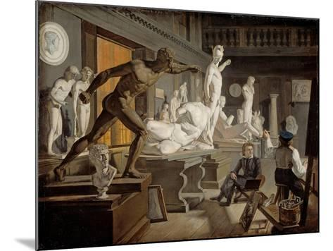 Scene from the Academy in Copenhagen-Knud Baade-Mounted Giclee Print