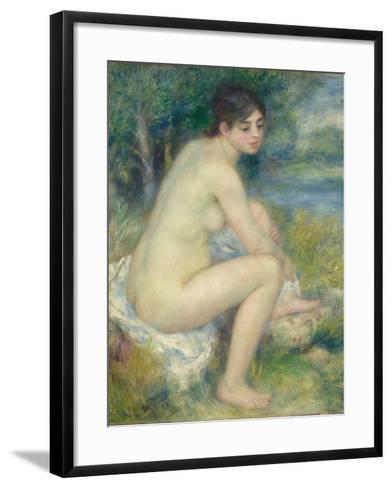 Nude Woman in a Landscape, 1883-Pierre-Auguste Renoir-Framed Art Print