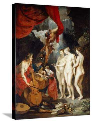 The Education of the Princess. (The Marie De' Medici Cycl)-Peter Paul Rubens-Stretched Canvas Print