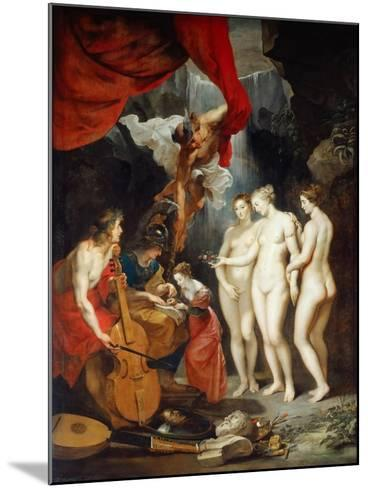 The Education of the Princess. (The Marie De' Medici Cycl)-Peter Paul Rubens-Mounted Giclee Print
