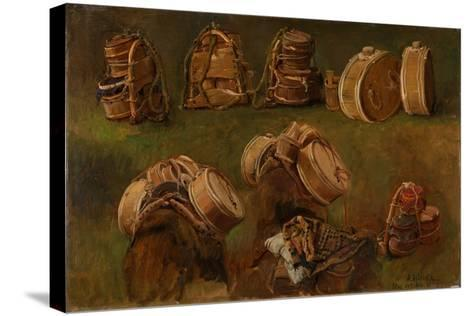 Study of Pack Saddles and Other Objects-Anders Askevold-Stretched Canvas Print