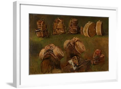 Study of Pack Saddles and Other Objects-Anders Askevold-Framed Art Print