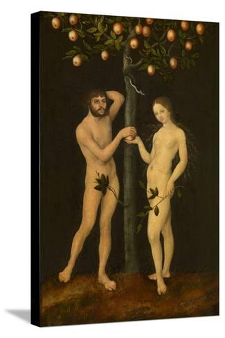 Adam and Eve-Lucas Cranach the Elder-Stretched Canvas Print