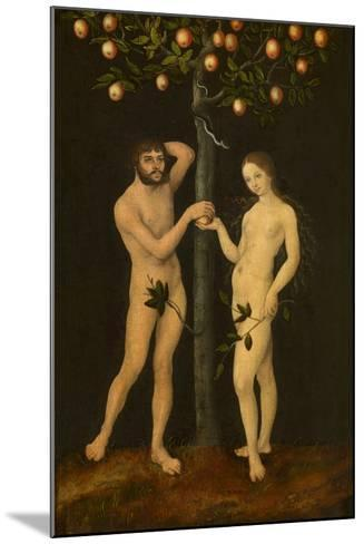 Adam and Eve-Lucas Cranach the Elder-Mounted Giclee Print