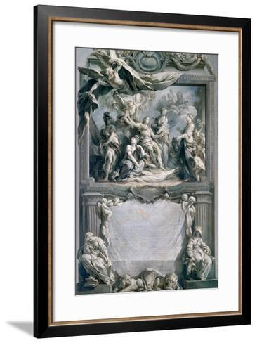 Louis XV Gives Peace to Europe-François Le Moyne-Framed Art Print