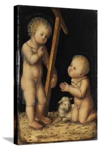 Christ and John the Baptist as Children-Lucas Cranach the Elder-Stretched Canvas Print