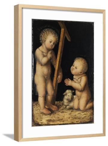 Christ and John the Baptist as Children-Lucas Cranach the Elder-Framed Art Print