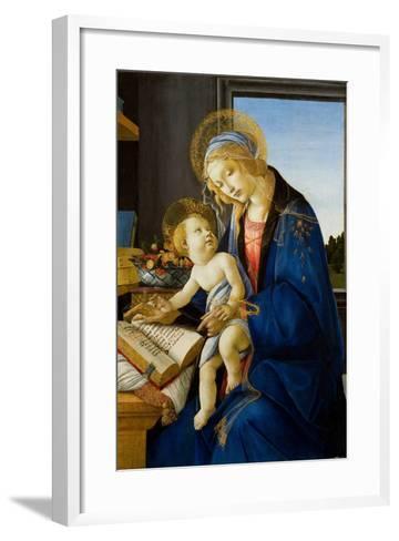 Madonna of the Book (Madonna Del Libr), 1480-Sandro Botticelli-Framed Art Print