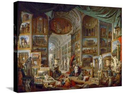 Picture Gallery with Views of Ancient Rome (Roma Antic)-Giovanni Paolo Panini-Stretched Canvas Print