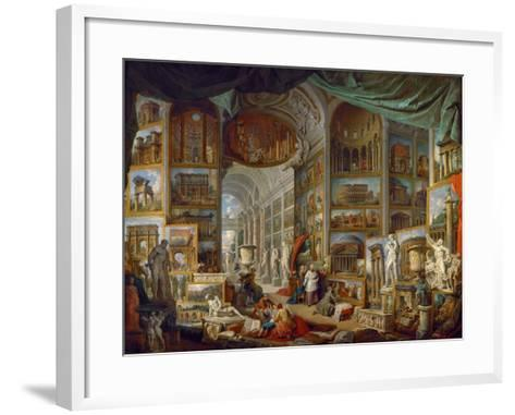 Picture Gallery with Views of Ancient Rome (Roma Antic)-Giovanni Paolo Panini-Framed Art Print