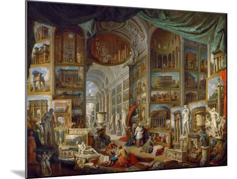Picture Gallery with Views of Ancient Rome (Roma Antic)-Giovanni Paolo Panini-Mounted Giclee Print