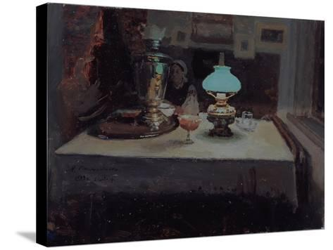 At the Samovar, 1899-Jakov Jakovlevich Kalinichenko-Stretched Canvas Print