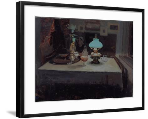 At the Samovar, 1899-Jakov Jakovlevich Kalinichenko-Framed Art Print