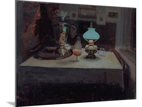At the Samovar, 1899-Jakov Jakovlevich Kalinichenko-Mounted Giclee Print