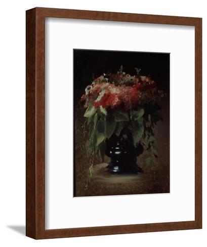 Bunch of Flowers. Phloxes, 1884-Ivan Nikolayevich Kramskoi-Framed Art Print