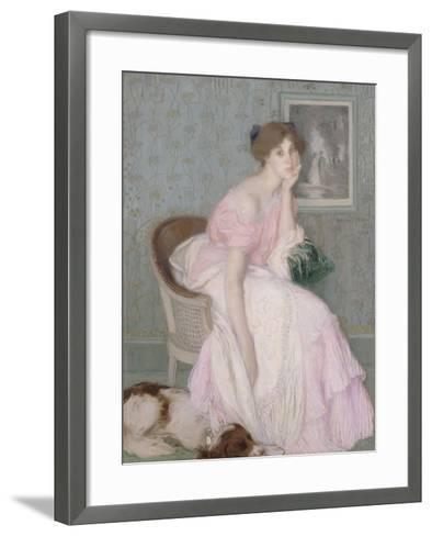 Miss Ella Carmichael-Edmond François Aman-Jean-Framed Art Print
