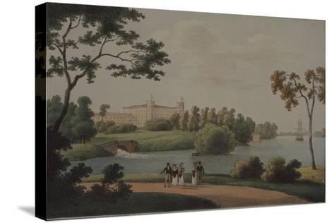 View of the Main Gatchina Palace, 1821-Andrei Yefimovich Martynov-Stretched Canvas Print