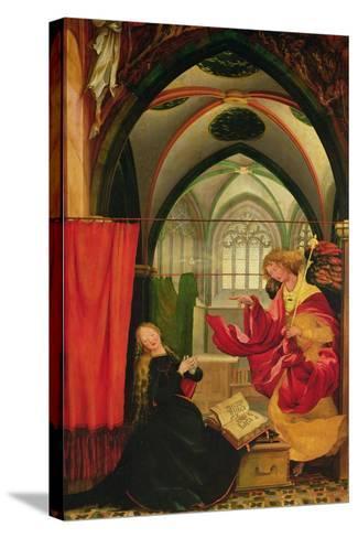 The Isenheim Altarpiece, Left Wing: Annunciation-Matthias Gr?newald-Stretched Canvas Print