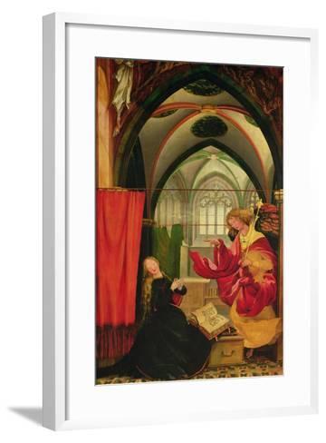 The Isenheim Altarpiece, Left Wing: Annunciation-Matthias Gr?newald-Framed Art Print