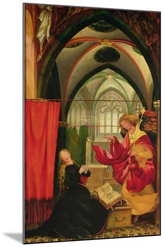 The Isenheim Altarpiece, Left Wing: Annunciation-Matthias Gr?newald-Mounted Giclee Print