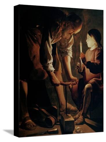 Saint Joseph, the Carpenter-Georges de La Tour-Stretched Canvas Print