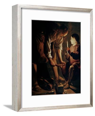 Saint Joseph, the Carpenter-Georges de La Tour-Framed Art Print