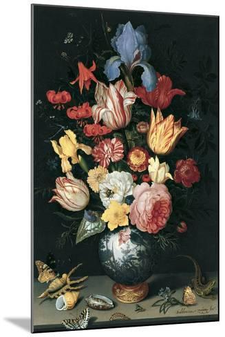 Chinese Vase with Flowers, Shells and Insects-Balthasar van der Ast-Mounted Giclee Print