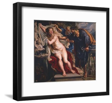 Susanna and the Elders-Peter Paul Rubens-Framed Art Print