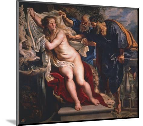 Susanna and the Elders-Peter Paul Rubens-Mounted Giclee Print