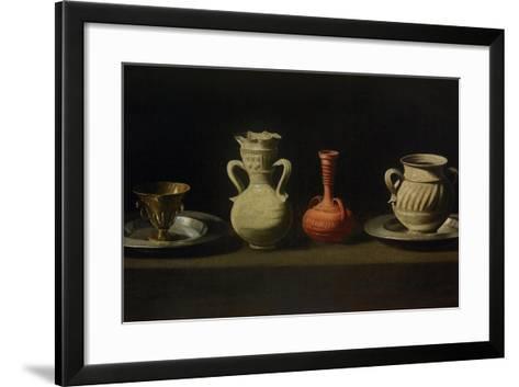 Still Life with Four Vessels-Francisco de Zurbar?n-Framed Art Print