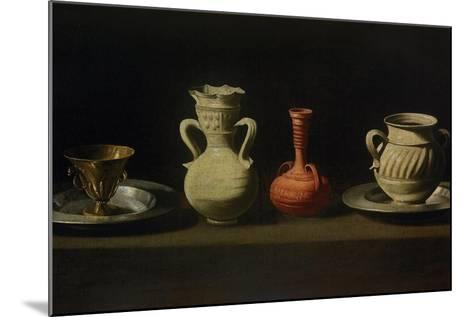 Still Life with Four Vessels-Francisco de Zurbar?n-Mounted Giclee Print