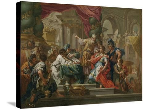 Alexander the Great in the Temple of Jerusalem-Sebastiano Conca-Stretched Canvas Print