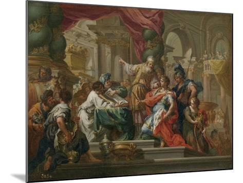 Alexander the Great in the Temple of Jerusalem-Sebastiano Conca-Mounted Giclee Print