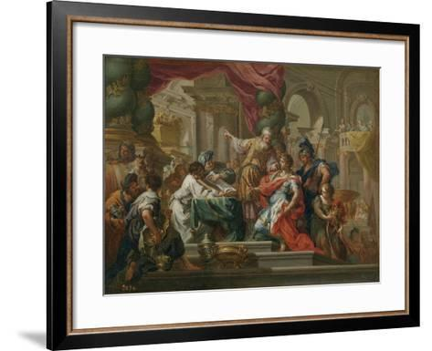 Alexander the Great in the Temple of Jerusalem-Sebastiano Conca-Framed Art Print