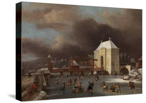 View of the Heiligewegspoort in Amsterdam-Jan van Kessel-Stretched Canvas Print