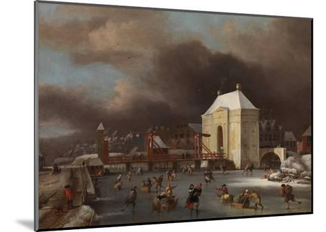 View of the Heiligewegspoort in Amsterdam-Jan van Kessel-Mounted Giclee Print