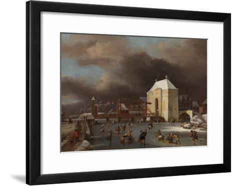 View of the Heiligewegspoort in Amsterdam-Jan van Kessel-Framed Art Print