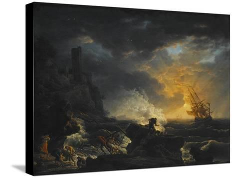 Shipwreck, Second Half of the 18th C-Claude Joseph Vernet-Stretched Canvas Print