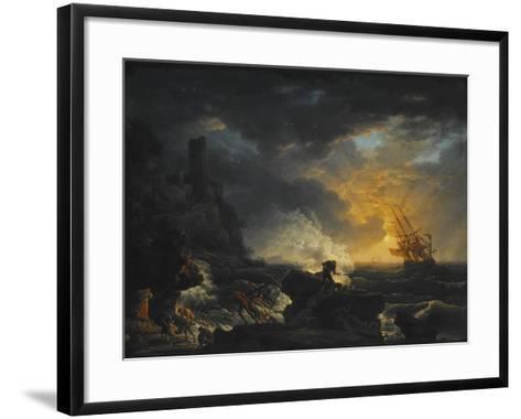 Shipwreck, Second Half of the 18th C-Claude Joseph Vernet-Framed Art Print