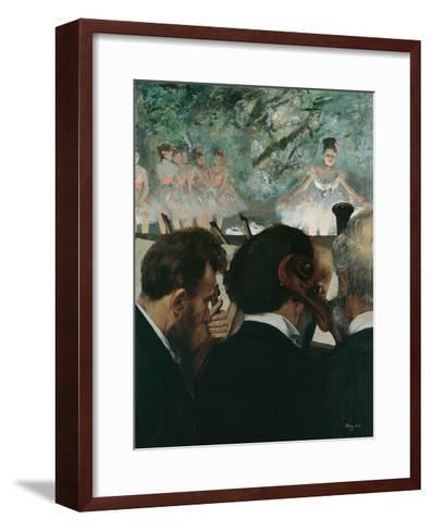 Orchestra Musicians-Edgar Degas-Framed Art Print