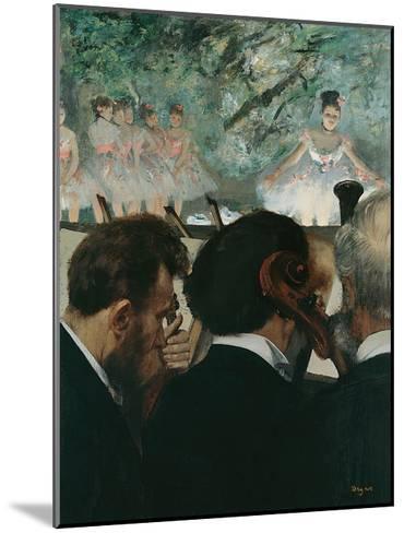 Orchestra Musicians-Edgar Degas-Mounted Giclee Print
