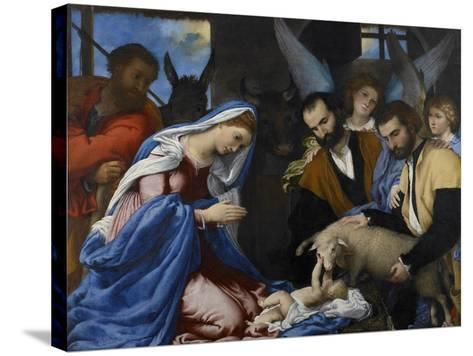The Adoration of the Shepherds-Lorenzo Lotto-Stretched Canvas Print