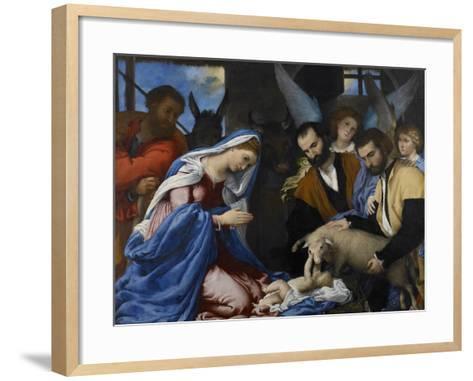 The Adoration of the Shepherds-Lorenzo Lotto-Framed Art Print