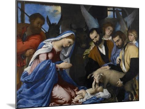 The Adoration of the Shepherds-Lorenzo Lotto-Mounted Giclee Print