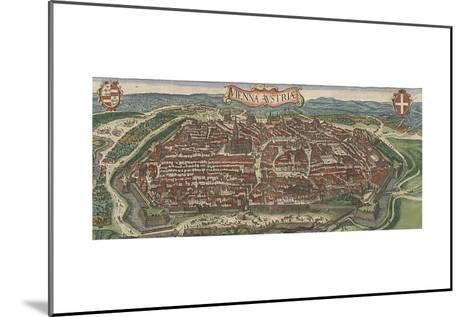 Bird's-Eye View of Vienna from North, 1609-Jacob Hoefnagel-Mounted Giclee Print