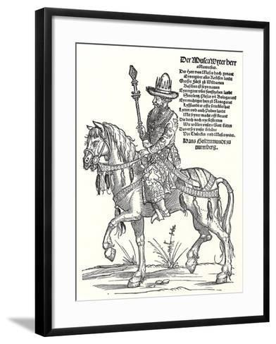 Portrait of Grand Prince Vasili III Ivanovich of Moscow (1479-153)-Erhard Schoen-Framed Art Print