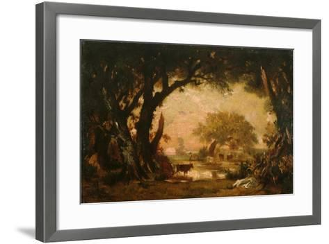Clearing in the Woods of Fontainebleau-Th?odore Rousseau-Framed Art Print